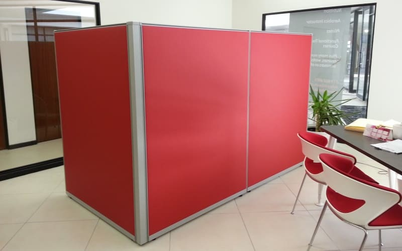Office partitioning with fabrics for an inspirational work space